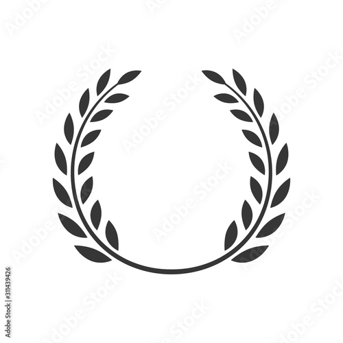 Canvastavla  Laurel wreath vector award branch victory icon
