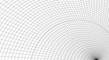 Abstract Warped Grid Futuristi...