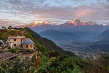 Sunrise On The Himalayas Pokha...