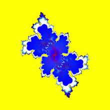 Blue Leaf, Fractal And Abstrac...