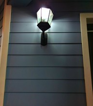 Lamppost Over Wooden House, Concept Background Ideal For Adding Text