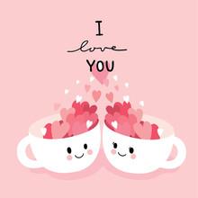 Cartoon Cute Valentines Day Tw...