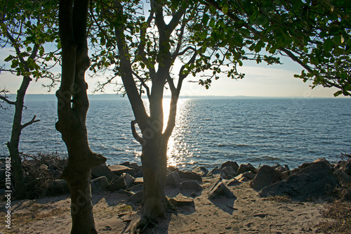 View of Sandy Hook Bay from North end of Sandy Hook, Highlands, Middletown, New Wallpaper Mural