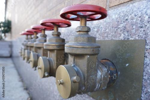 HD old water valve on pipeline gas valve Wallpaper Mural