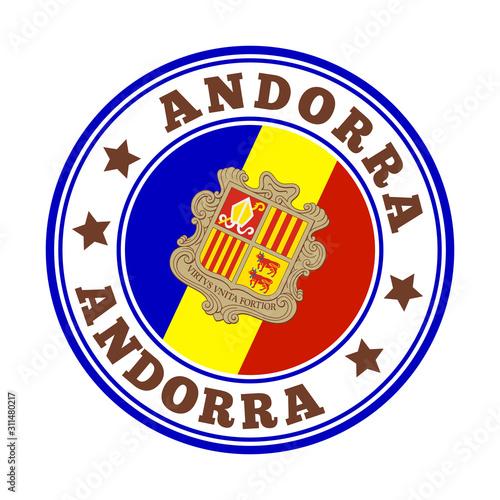 Andorra sign Wallpaper Mural