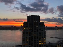 NEW YORK CITY Sunset On The Up...