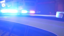 A Flashing Police Signal On A ...
