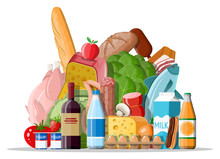 Groceries Set. Grocery Store C...