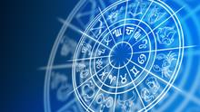 Zodiac Wheel With Zodiac Signs...