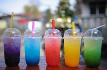 Ice Juice Soda On Table