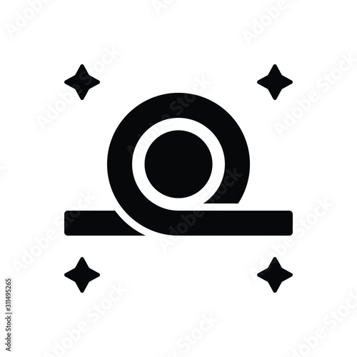 Foto Black solid icon for bend