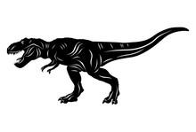 Silhouette Of Dinosaur T-rex I...