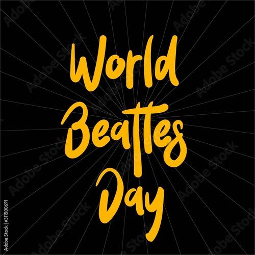 Fotografie, Obraz The Beatles' Birthday Party, John Lennon, Paul McCartney, George Garrison, Stuart Sutcliff, Pet Best, Poster for the Beatles Day