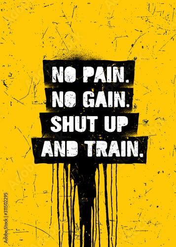 Obraz na plátne  No Pain No Gain