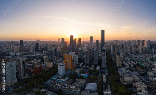 Fototapety, obrazy: Skyline of Nanjing City at Sunset