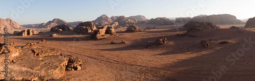 Photo Coucher de soleil sur le Wadi Rum, Jordanie