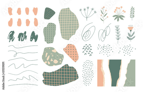 Fotomural  Collection of hand drawn elements