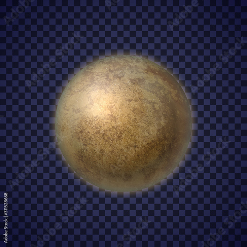 Photo  Pluto small planet on transparent background