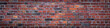 canvas print picture - old red brick wall background