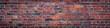 Leinwanddruck Bild - old red brick wall background