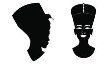 Silhouette Egyptian Vector Design Black And White