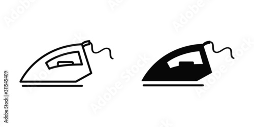 Fototapeta iron vector icon symbol