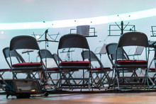 Empty Chairs For Musicians On ...