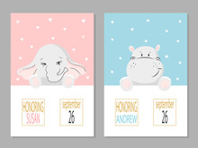Baby Shower Posters With Carto...