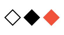 Rhombus Vector Icon Shape, Geometric Modern Rhombus Logo