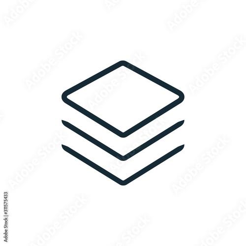 Fotomural Layer icon vector logo