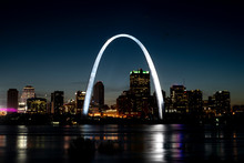 St Louis Gateway Arch Brightly...
