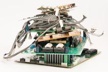 Electronic PCB Garbage As Back...