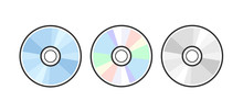 CD DVD Icon Disc Vector Blank ...
