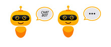 Robot Icon. Chat Bot Sign For Support Service Concept. Chatbot Character Flat Style