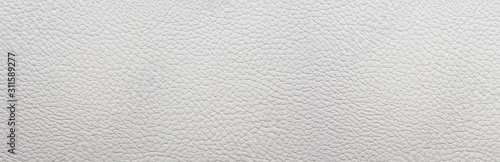 Fotografiet White leather background. Panorama.