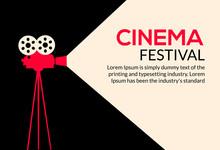 Cinema Movie Poster Design. Ve...