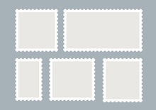 Blank Postage Stamps Vector Se...