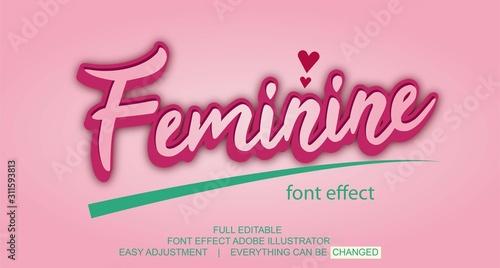 Cuadros en Lienzo text effect design, editable text, vector template, easy customize