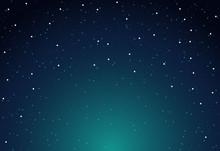 Vector Sky Star Background Nig...