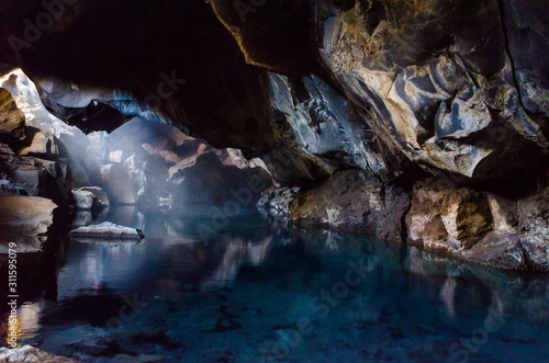 The geothermal grotto and cave, Grjotagja, is among the areas of Iceland featured in Game of Thrones Canvas Print