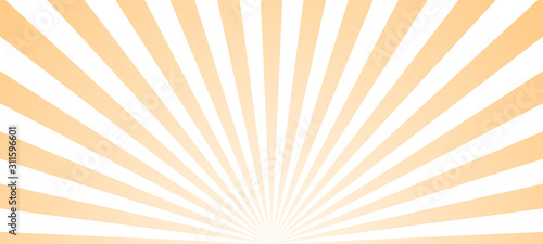 Fotografía Sun ray retro background vector burst light
