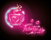 Happy Valentines Day With Cup ...