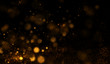 Abstract background with golden particles