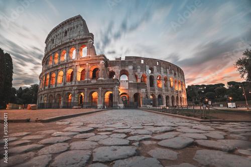 colosseum in rome at sunrise Wallpaper Mural
