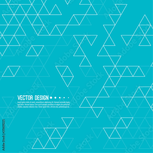 Photo Abstract background with intersecting geometric triangular shapes