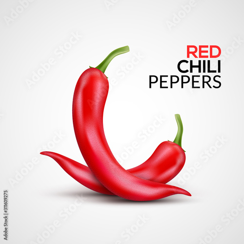 Fresh red hot chili pepper Canvas
