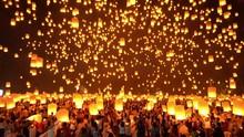 Thai People Release Sky Floati...