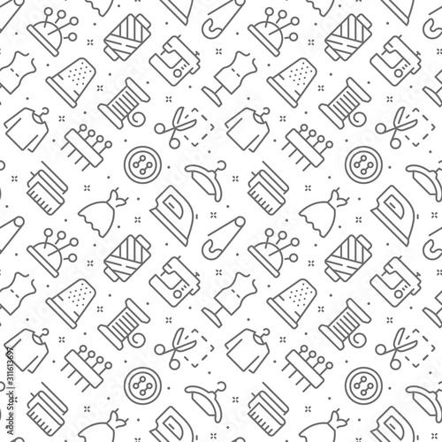 Tapety Industrialne  do-szycia-zwiazany-wzor-z-ikonami-konspektu