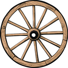 Old Classic Wooden Wheel From ...