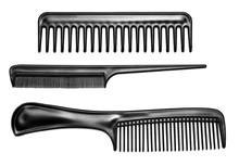 Black Hair Combs Isolated On A...